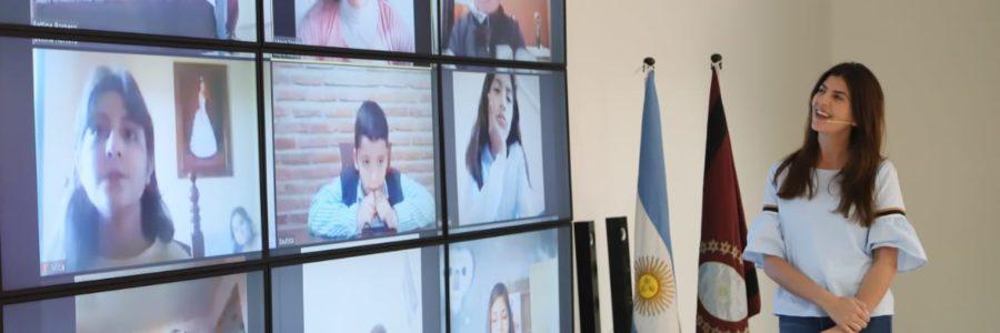 Bettina Romero participó de un nuevo Mini Gabinete con niños de la ciudad