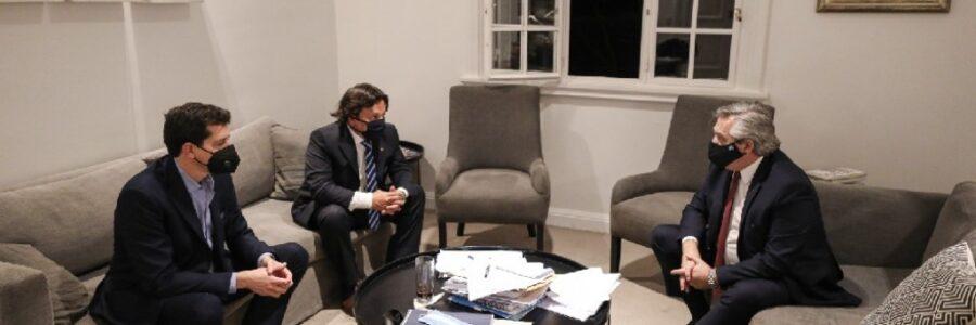 El gobernador Sáenz se reunió con el presidente Alberto Fernández