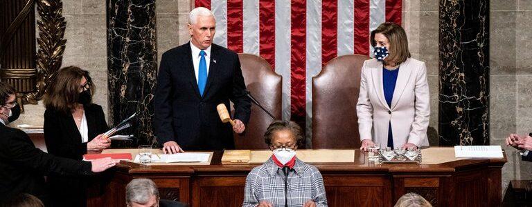 El Congreso certificó a Joe Biden como presidente de Estados Unidos